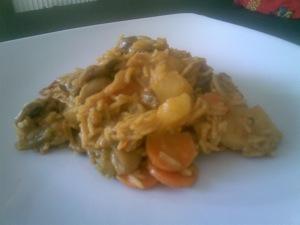 rijst groenten curry kokos