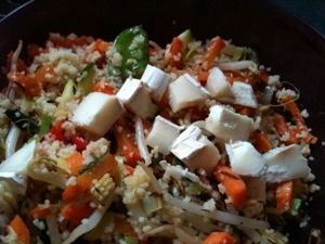 couscous met wokgroenten en geitenkaas