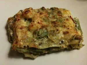 Groene lasagne met zelfgemaakte pesto