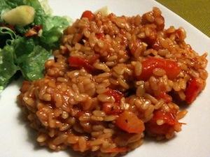 risotto met rode paprika